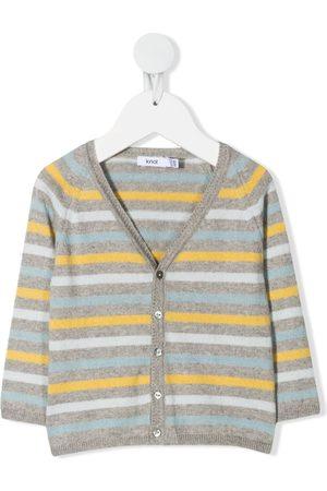 KNOT Stripe-print V-neck cardigan - Grey