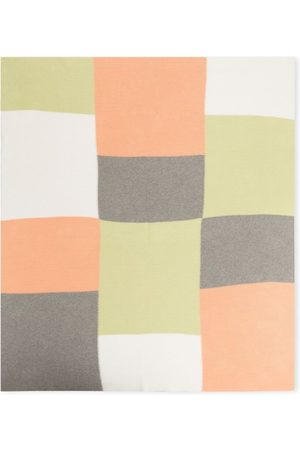 KNOT Patchwork tricot blanket - Grey