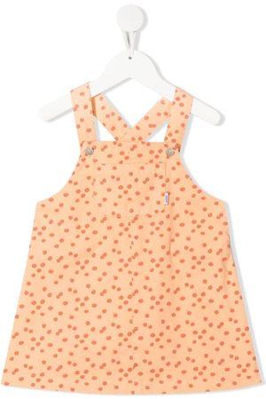 KNOT Pinafore polka-dot dungaree dress