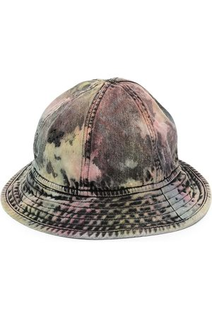 OFF-WHITE Bleached-effect bucket hat - Multicolour