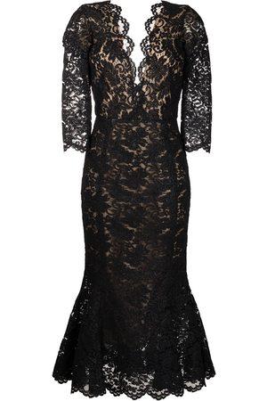 Oscar de la Renta Women Party Dresses - Flared hem lace dress