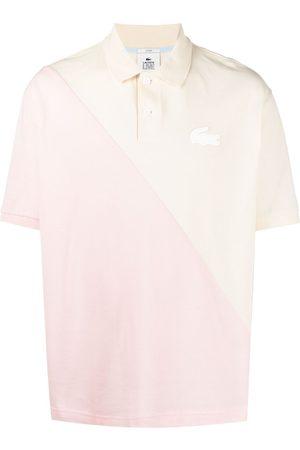 Lacoste Men Polo Shirts - Logo-patch two-tone polo shirt - Neutrals