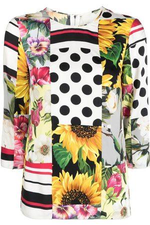 Dolce & Gabbana Patchwork print blouse