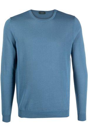 ZANONE Rib-trimmed cotton jumper