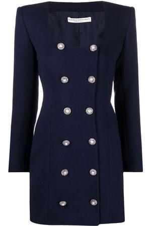 Alessandra Rich Embellished-button dress