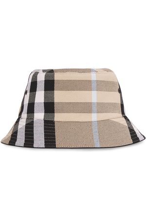 Burberry Check bucket hat - Neutrals