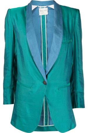 FORTE FORTE Single-breasted two-tone blazer