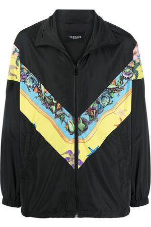 VERSACE Men Sports Jackets - Baroque-print track jacket
