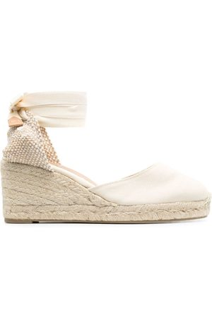 Castaner Women Wedge Pumps - Lace-up espadrille wedge pumps - Neutrals