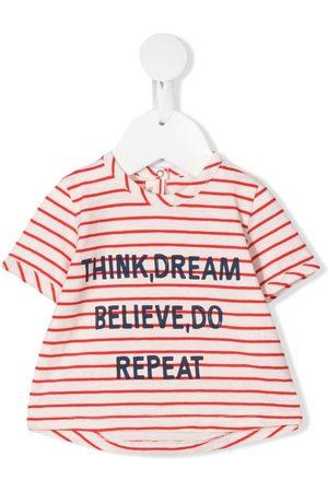 Zhoe & Tobiah Slogan print striped blouse - Neutrals
