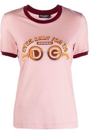 Dolce & Gabbana Sunglasses logo print T-shirt