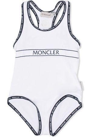 Moncler Logo trim swimsuit