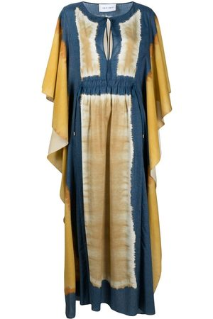 Alberta Ferretti Women Printed Dresses - Abstract-print drawstring kaftan