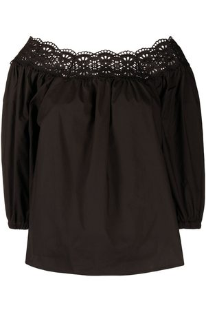 P.a.r.o.s.h. Broderie anglaise off-shoulder blouse
