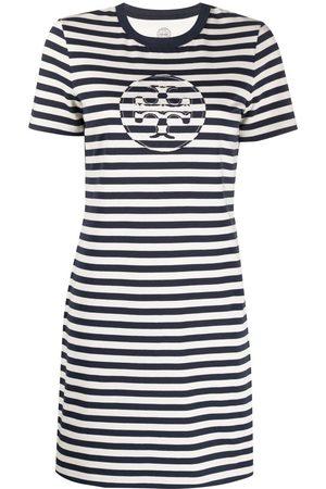 Tory Burch Striped T-shirt dress - Neutrals