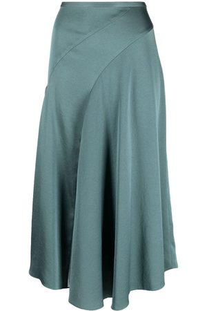 Vince Pleat-detail midi skirt