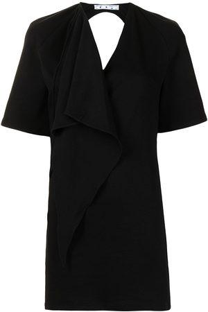 OFF-WHITE Short-sleeve backless dress