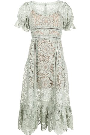 Self-Portrait Guipure-lace midi dress