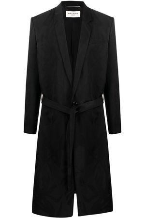 Saint Laurent Men Coats - Belted virgin wool coat