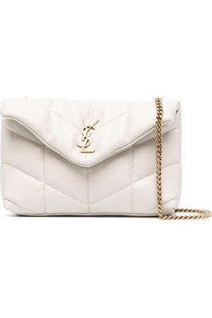 Saint Laurent Women Shoulder Bags - LouLou quilted shoulder bag - Neutrals
