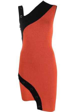 Roberto Cavalli Asymmetric knitted dress