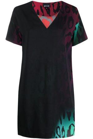 Roberto Cavalli Leopard-print shift dress