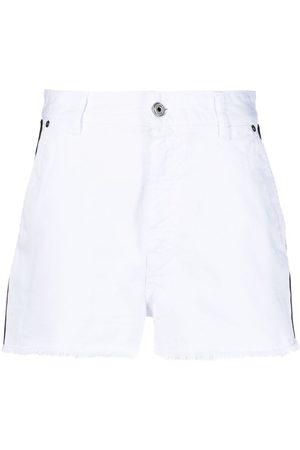 Roberto Cavalli Denim logo trim shorts