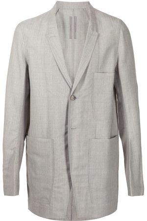 Rick Owens Single-breasted wool blazer - Grey