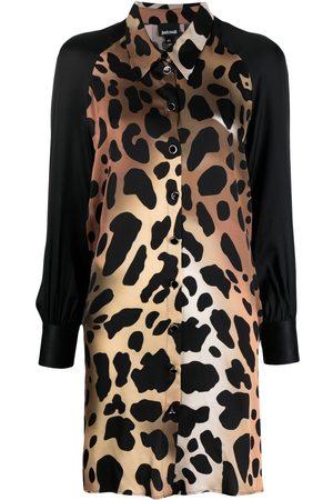 Roberto Cavalli Animal-print shirt dress