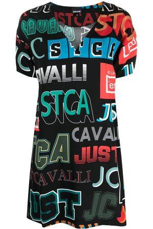 Roberto Cavalli Women Printed Dresses - Logo print T-shirt dress