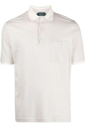 ZANONE Striped polo shirt - Neutrals