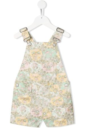 BONPOINT Floral print dungarees