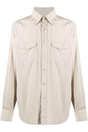 Tom Ford Garment-dyed button-down shirt - Neutrals