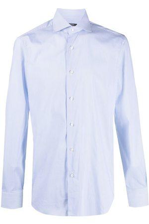 BARBA Striped poplin shirt