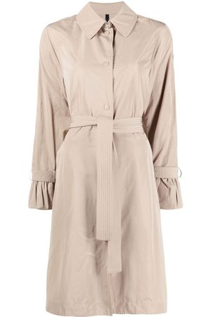 Moncler Single-breasted belted coat - Neutrals