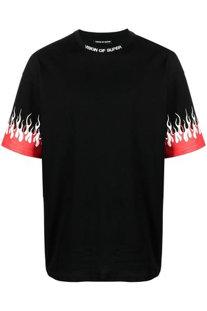 Vision Of Super Flame-detail short-sleeved T-shirt
