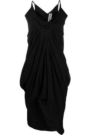 Rick Owens Ruched asymmetric dress
