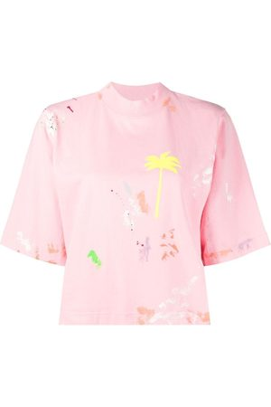 Palm Angels Paint-splatter T-shirt