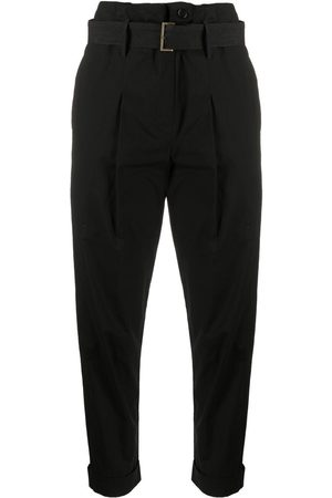 GENTRYPORTOFINO Paperbag belted cropped trousers