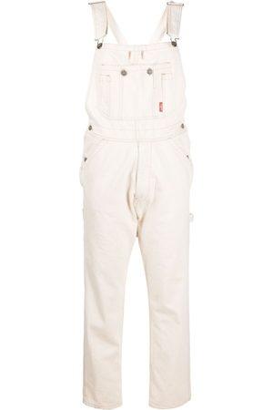 Denimist Slim-fit cotton dungarees - Neutrals