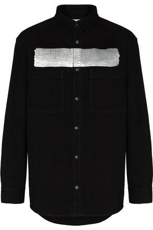 Givenchy Logo-print denim shirt