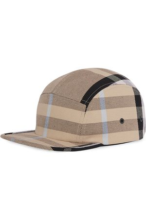 Burberry Check-print canvas cap