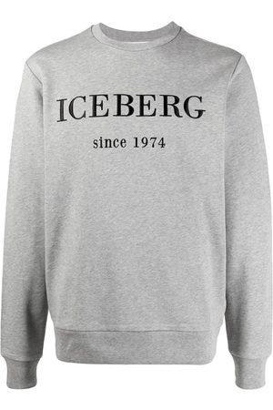 Iceberg Men Sweatshirts - Embroidered logo sweatshirt - Grey