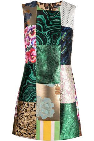 Dolce & Gabbana Women Party Dresses - Patchwork jacquard-woven dress