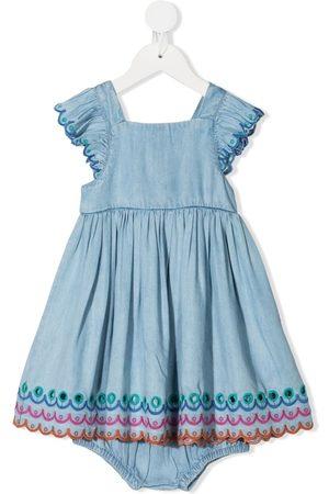 Stella McCartney Embroidered scallop-edge dress