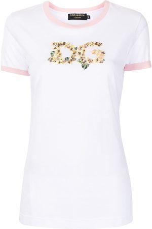 Dolce & Gabbana Floral-DG jersey T-shirt