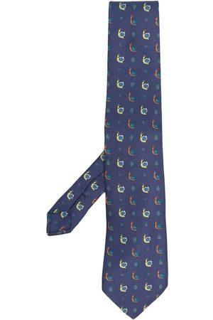 Etro Men Bow Ties - Snail-print silk tie