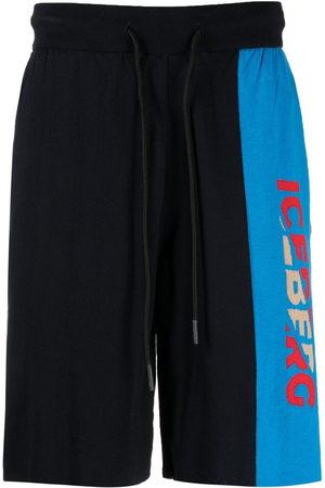 Iceberg Men Sports Shorts - Logo knit track shorts