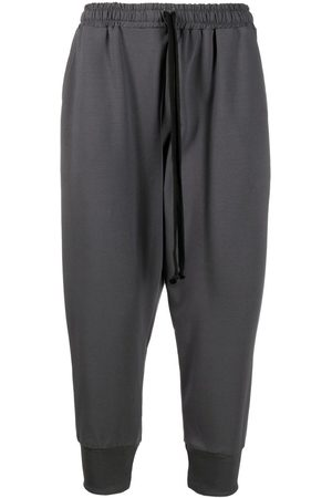 Alchemy Men Sweatpants - Tapered cropped track pants - Grey