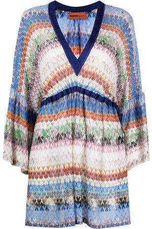 Missoni Women Party Dresses - Striped zip-zag mini dress